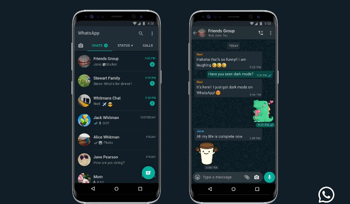 WhatsApp dark mode theme is now available