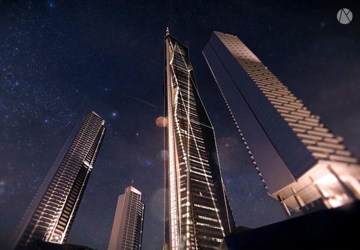 So many skyscrapers...